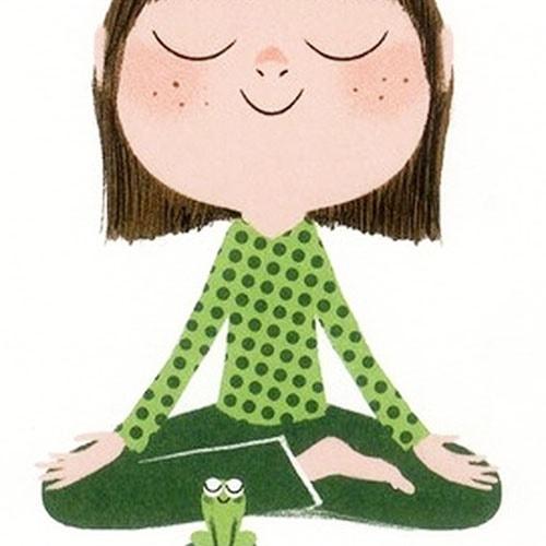 Livre Calme et attentif comme une grenouille. Méditer comme une grenouille