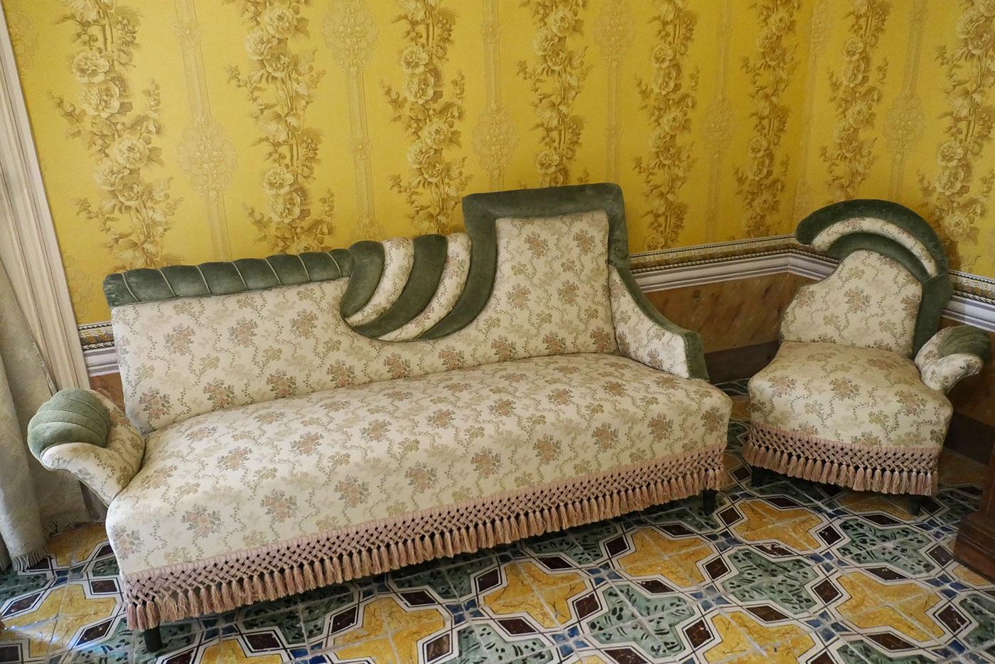 Salon du Palazzo Nicolaci di Villadorata-Noto-Crédit Numéro Une