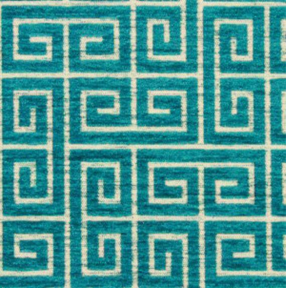Turquoise Velvet greek via ShopMyFabric
