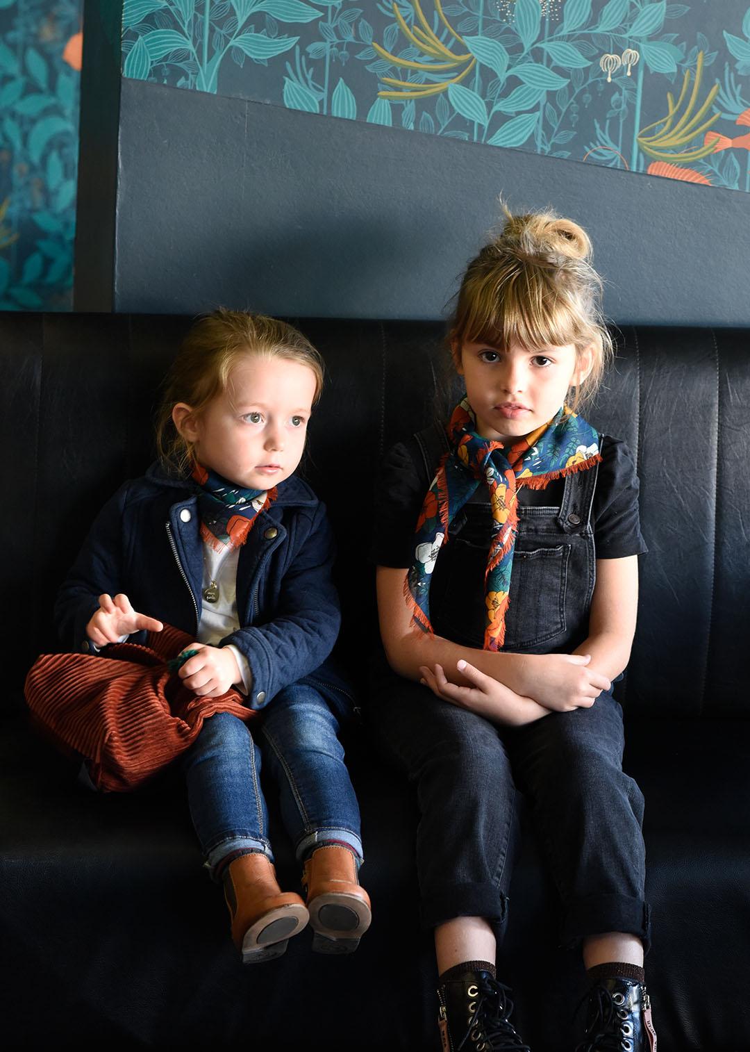 Foulard automne enfant et femme Numéro Une