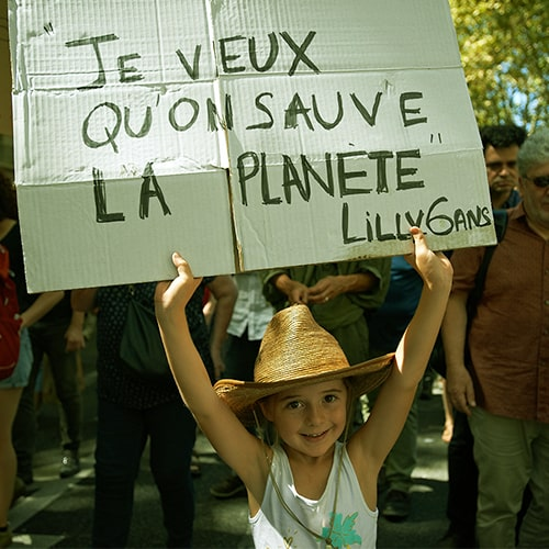 Enfant - marche pour le climat
