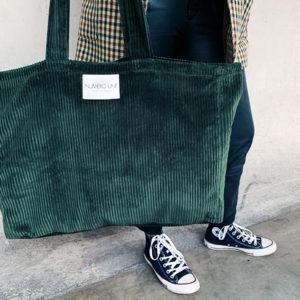 sac velours vert sauvage