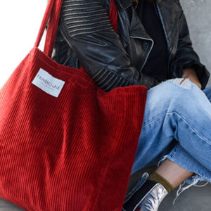 sac velours rouge piment