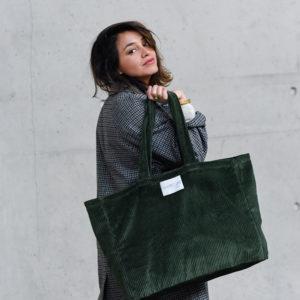 sac en velours Vert Nature